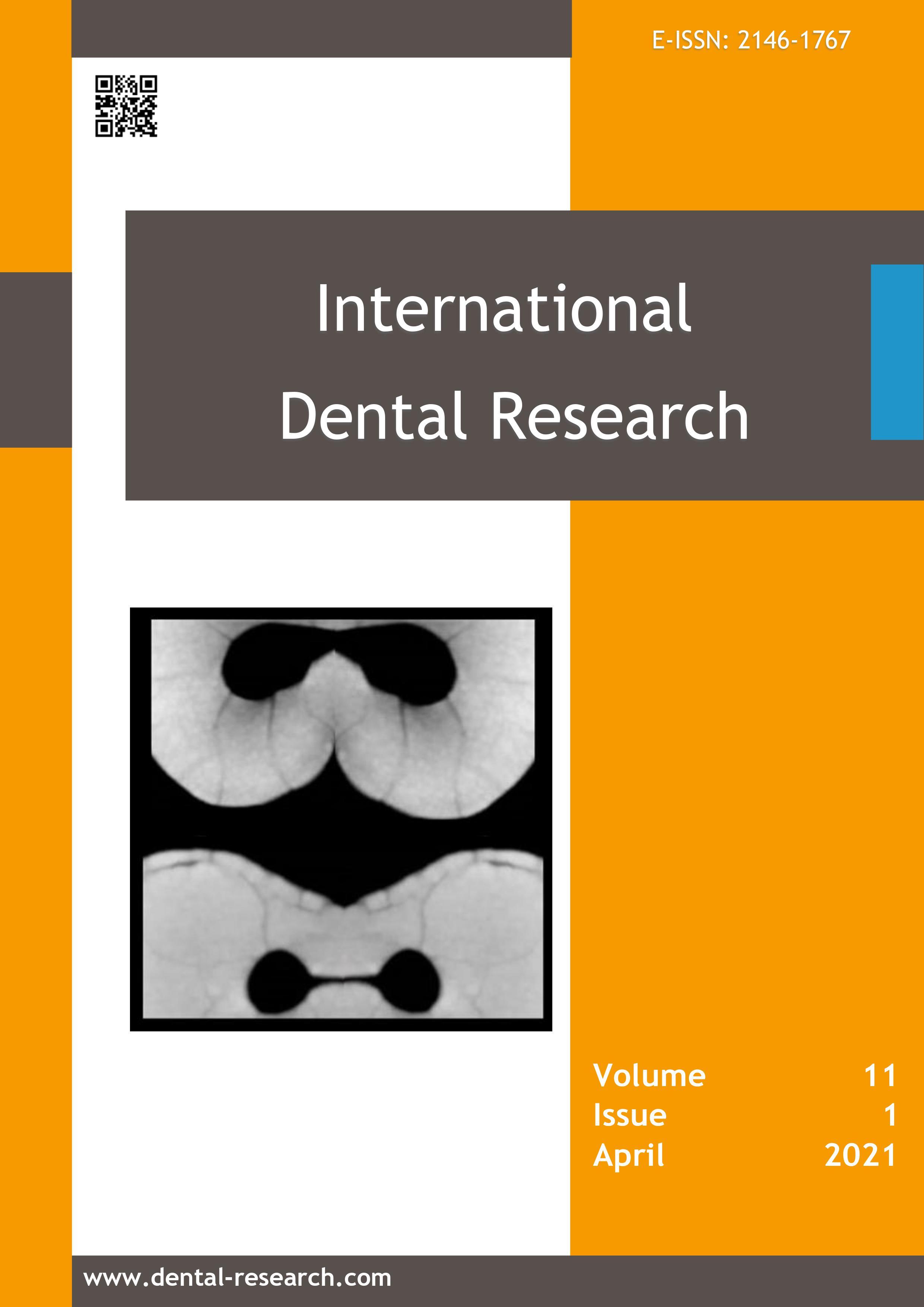 Vol 11 No 1 (2021): International Dental Research