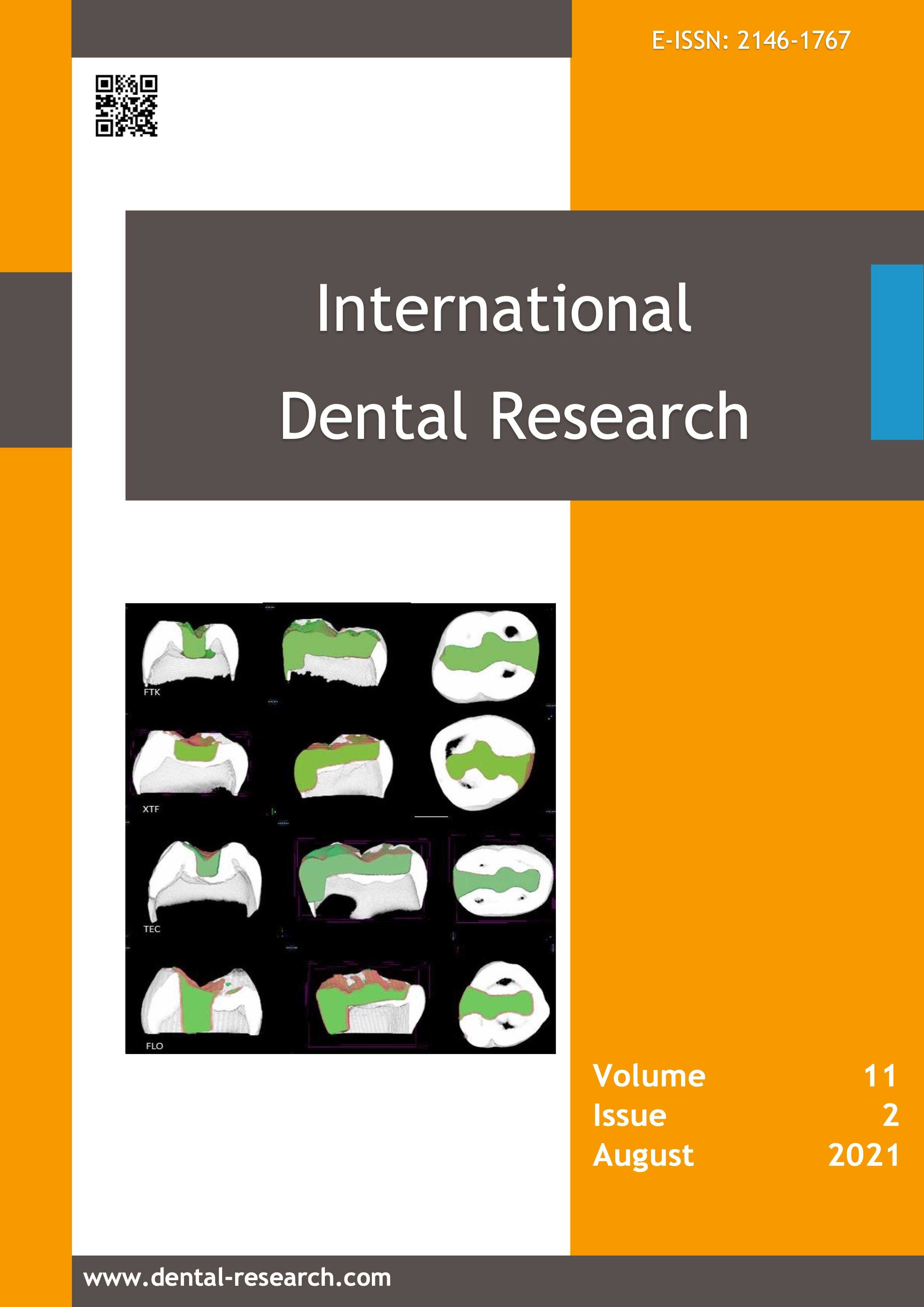 Vol 11 No 2 (2021): International Dental Research